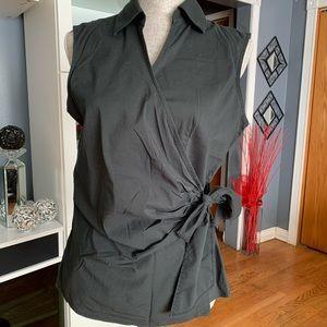 Express Design Studio Sleeveless Wrap Top